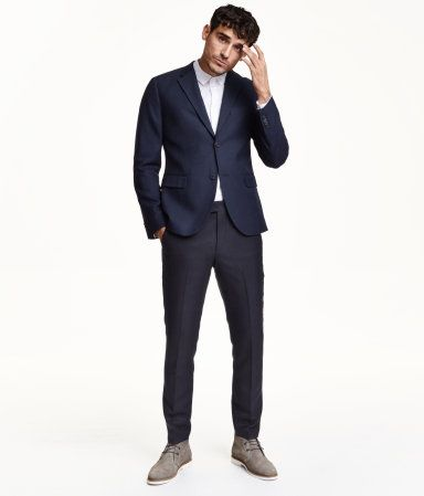 fdf838d398e Modern Essentials selected by David Beckham. Suit pants in soft twill with  a slight sheen. Skinny fit.