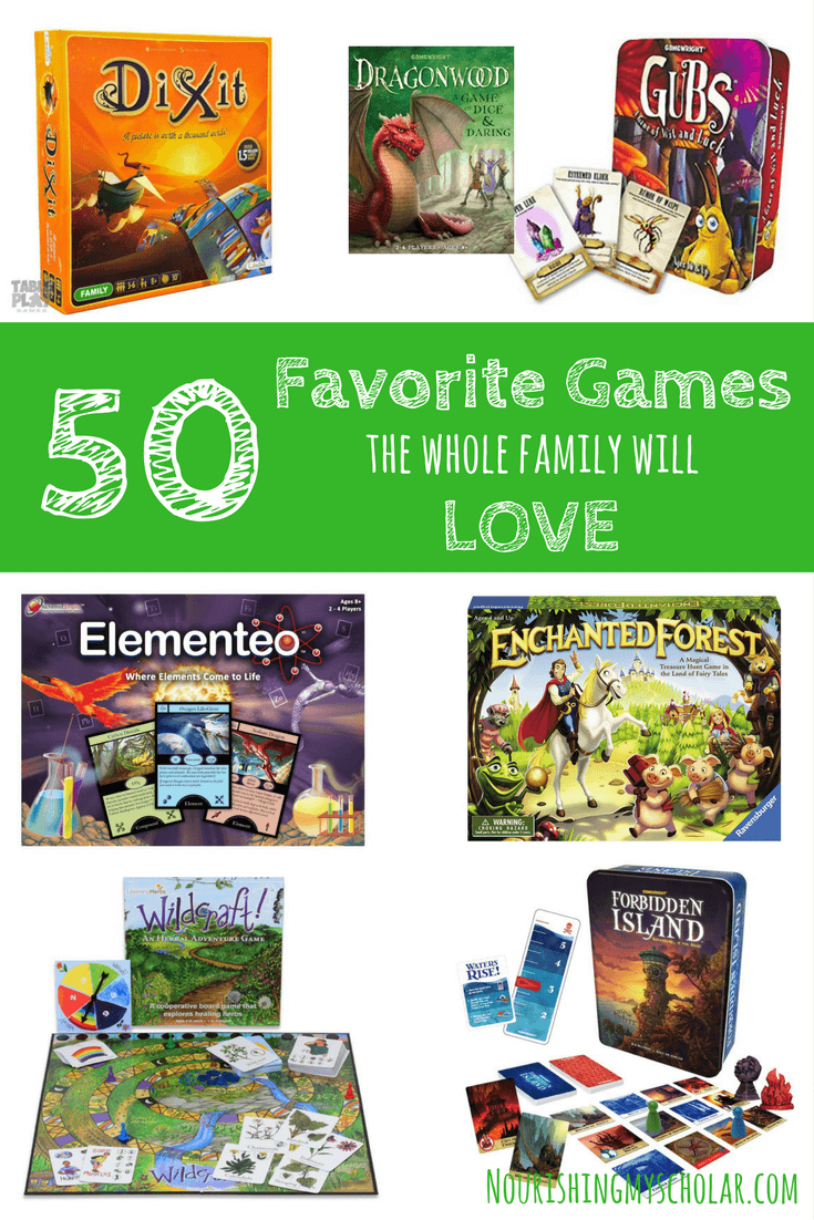 50 Favorite Games The Whole Family Will Love Games