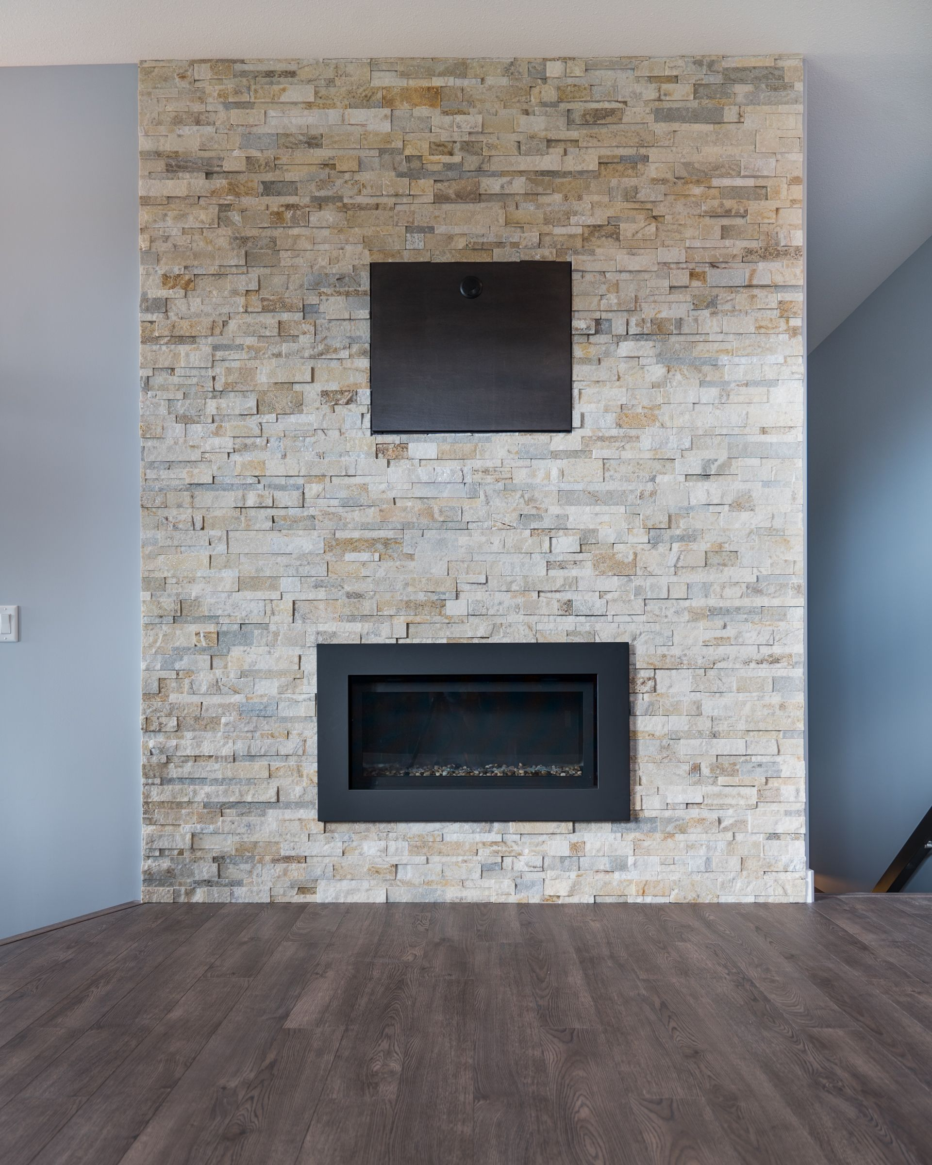 gorgeous living room brick fireplace feature wall the jules