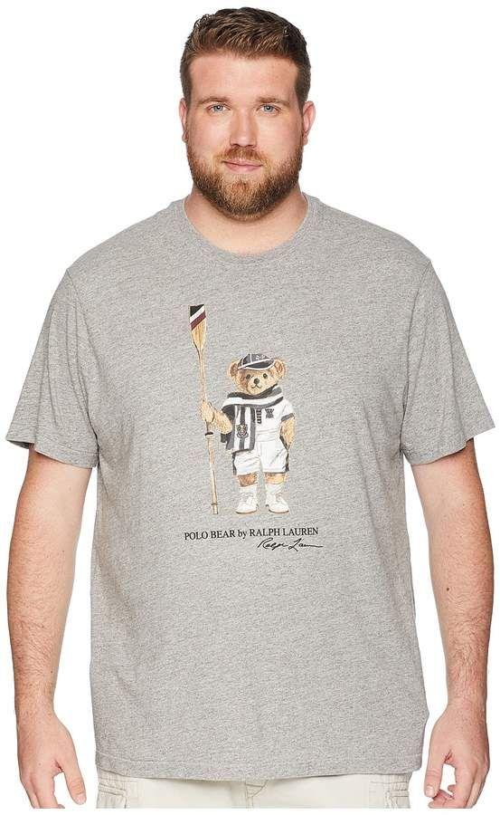 49840f73f Big Tall Bear Player Crew T-shirt Men's T Shirt #Player#print#front. Polo  Ralph Lauren ...