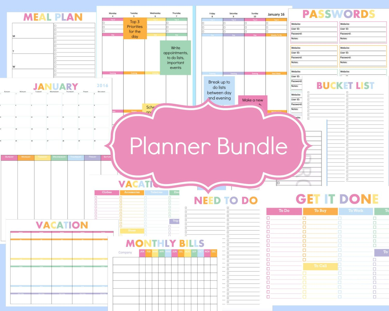 Printable Planner Kit Weekly Planner Daily Planner