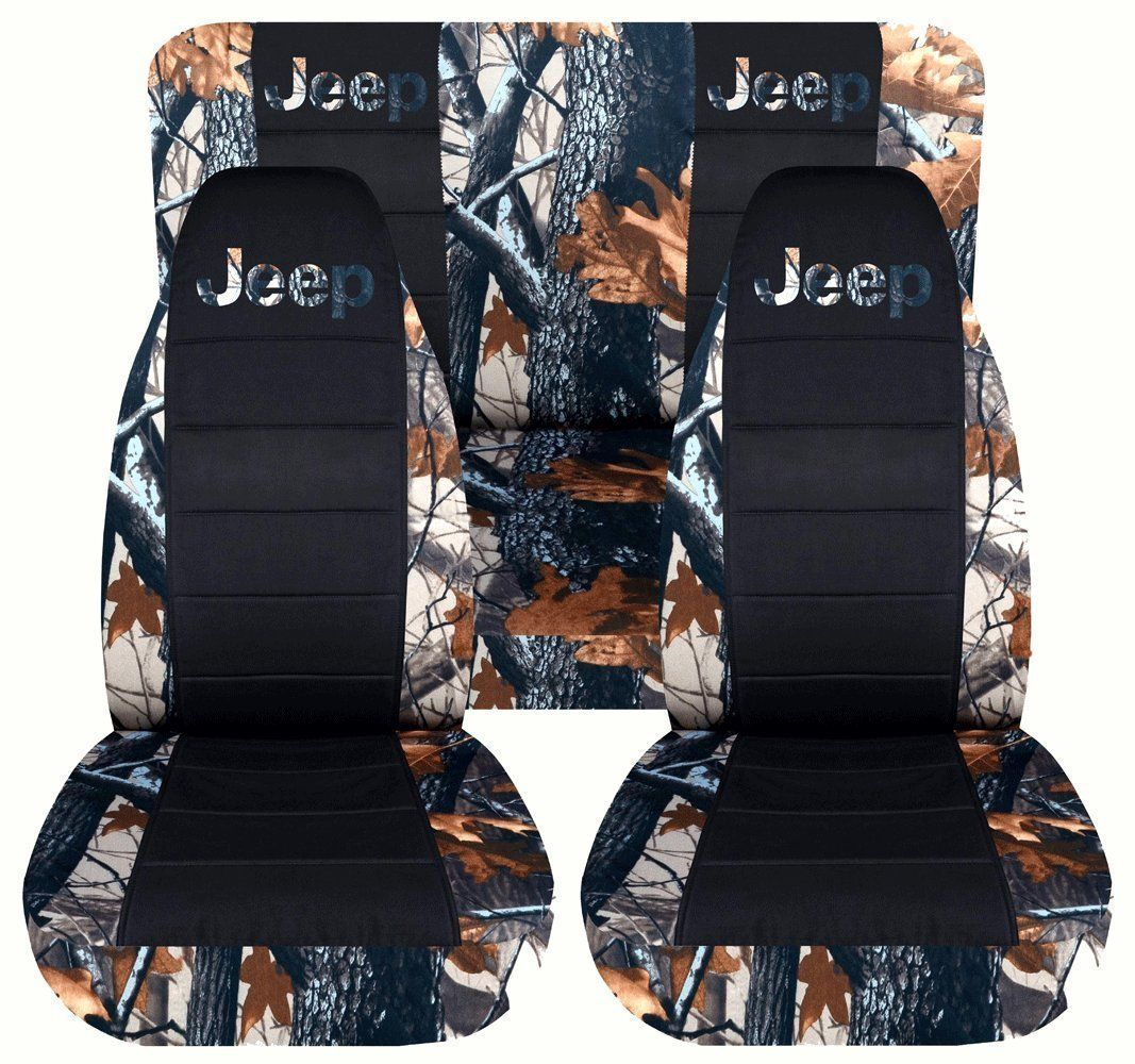 Amazon.com: 2002 to 2004 Jeep Liberty Front and Rear Camouflage and Black Jeep Seat Covers Rears Rear 40-60 Split (2 Separate Front Headrests Covers, Pink Tree Camouflage): Automotive