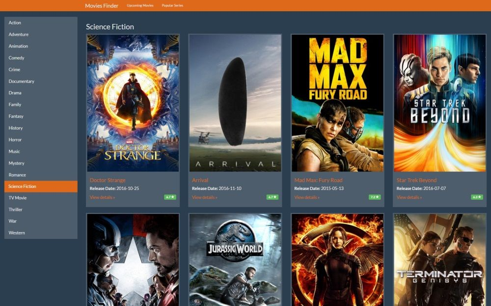 Movies and TV shows finder Angular 2 application Demo