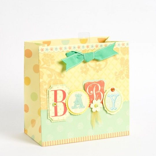 Vintage Baby Letters Medium Gift Bag Baby letters