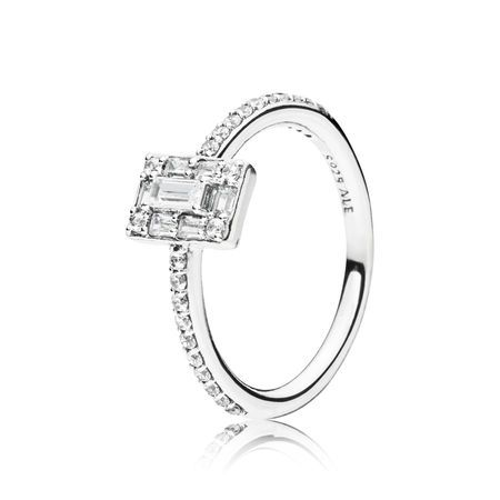 2445d486a Luminous Ice Ring, Clear CZ, Sterling silver, Cubic Zirconia - PANDORA -  #197541CZ