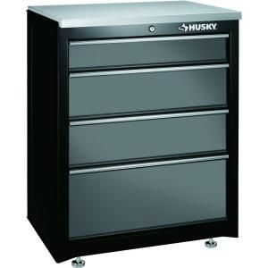 Husky 27 in. 4-Drawer Base Cabinet-27BC401BP-THD at The Home Depot ...