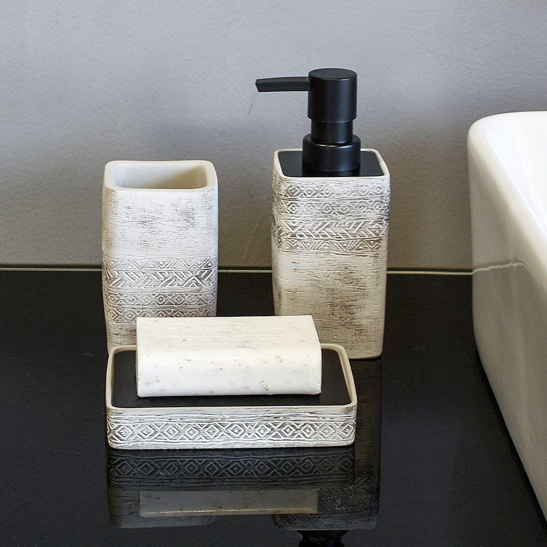 gray bathroom accessories set. SATU BROWN Bathroom Accessories Set 3 Pieces Include Soap Dispenser  Beaker Dish Silver Gray for Kitchen D cor Home Gift Amazon