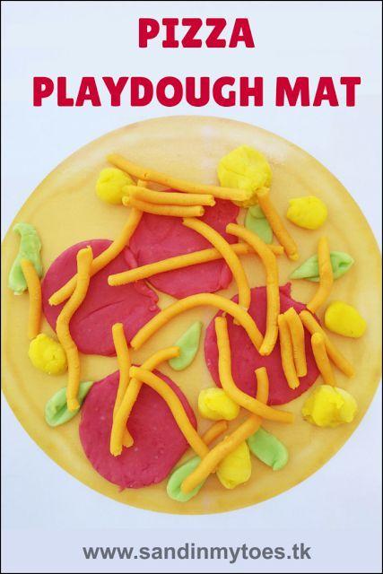 Busy Hands Pizza Play Dough Mat Playdough Mats Playdough