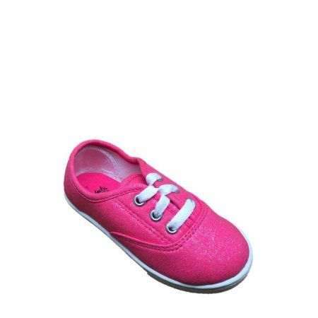 Faded Glory Toddler Girls  Hillary Canvas Lace Up Casual Shoe 99cbc0e3f89
