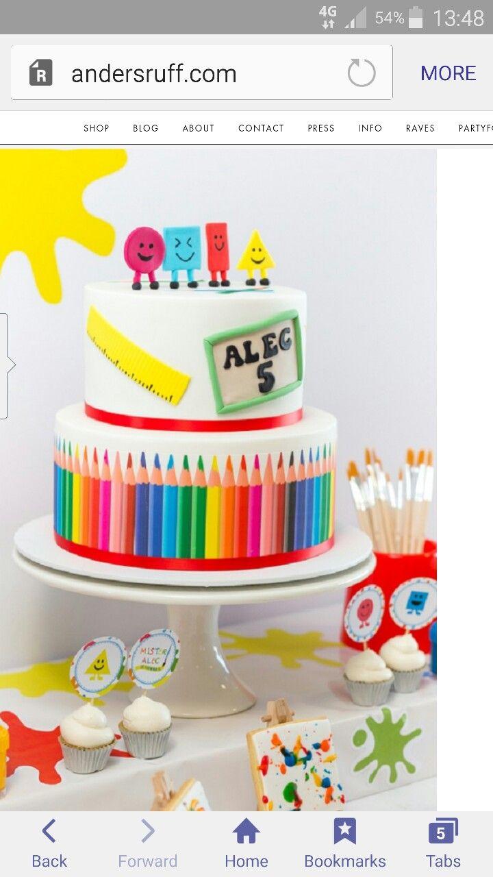 Mr maker birthday cake little artist Pinterest Birthday cakes