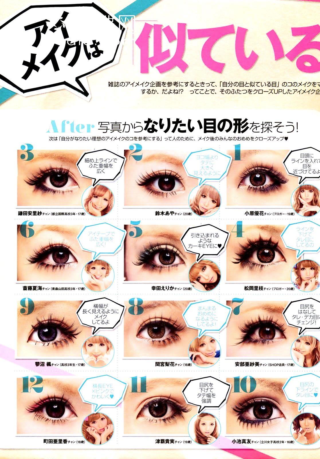 Pin By Linda On Makeup Step By Step Gyaru Makeup Asian Makeup Tips Asian Makeup