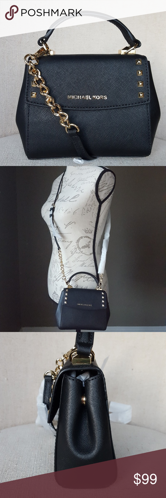 26a948f1c10e0a NWT Michael Kors Karla crossbody bag purse black FIRM PRICE - THANK YOU  BRAND NEW IN FACTORY WRAPPING 100% guaranteed authentic NWT Michael Kors  MINI Karla ...