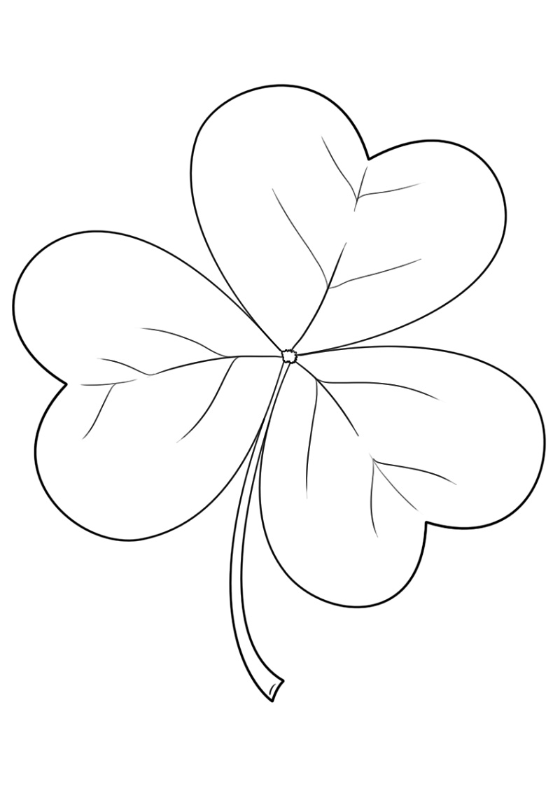 Shamrock Coloring Page (With images) Coloring pages