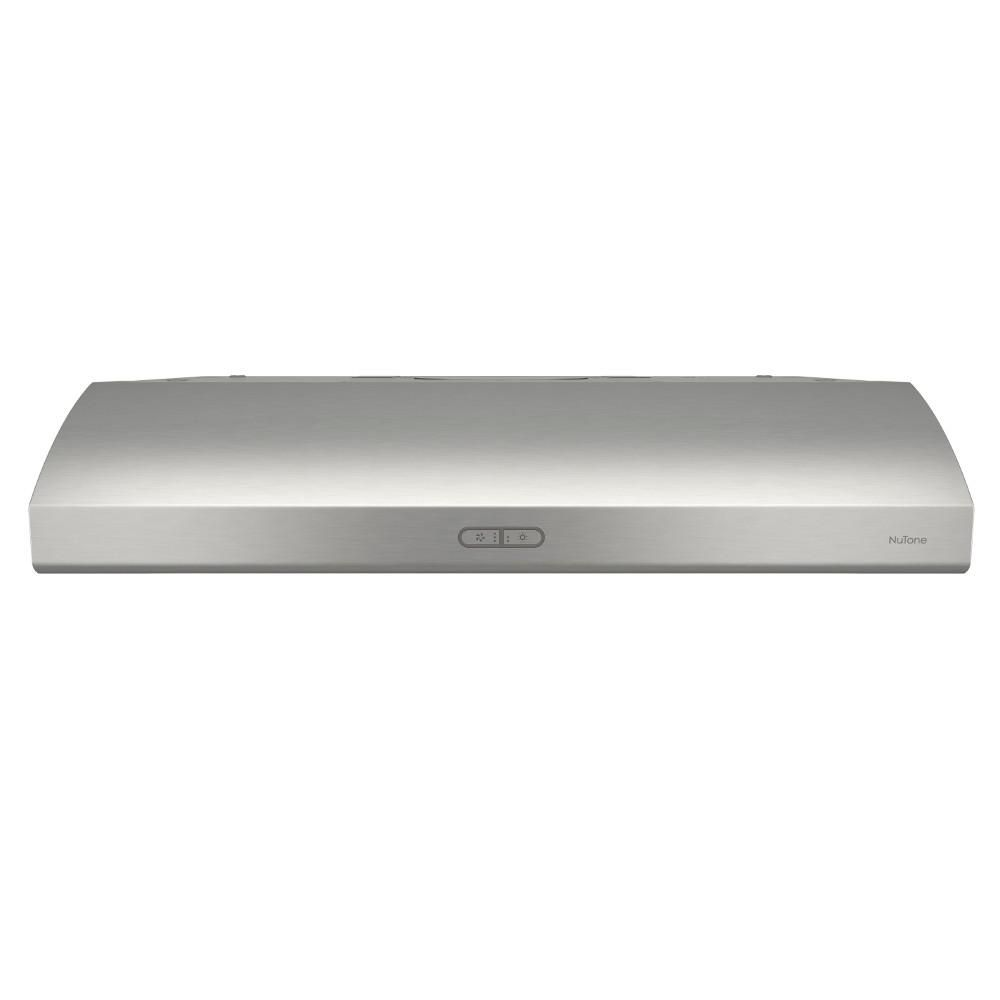 Broan Nutone Osmos Deluxe 30 In Convertible Under Cabinet Range Hood With Light In Stainless Steel Ahda130ss The Home Depot Under Cabinet Range Hoods Range Hood Broan
