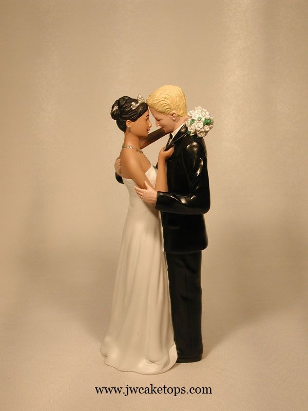 Light Brown Skin Tone Ethnic Bride with Caucasian Blond Hair Groom ...