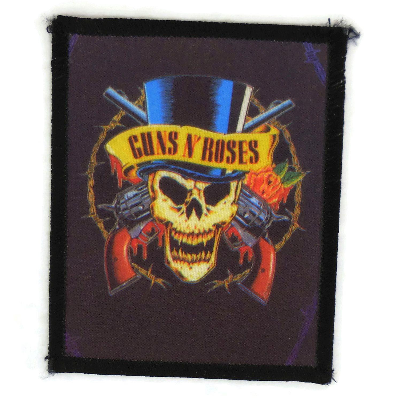 "Vintage Guns N Roses Patch 80s Sew On 3"" x 4"" Heavy Metal"
