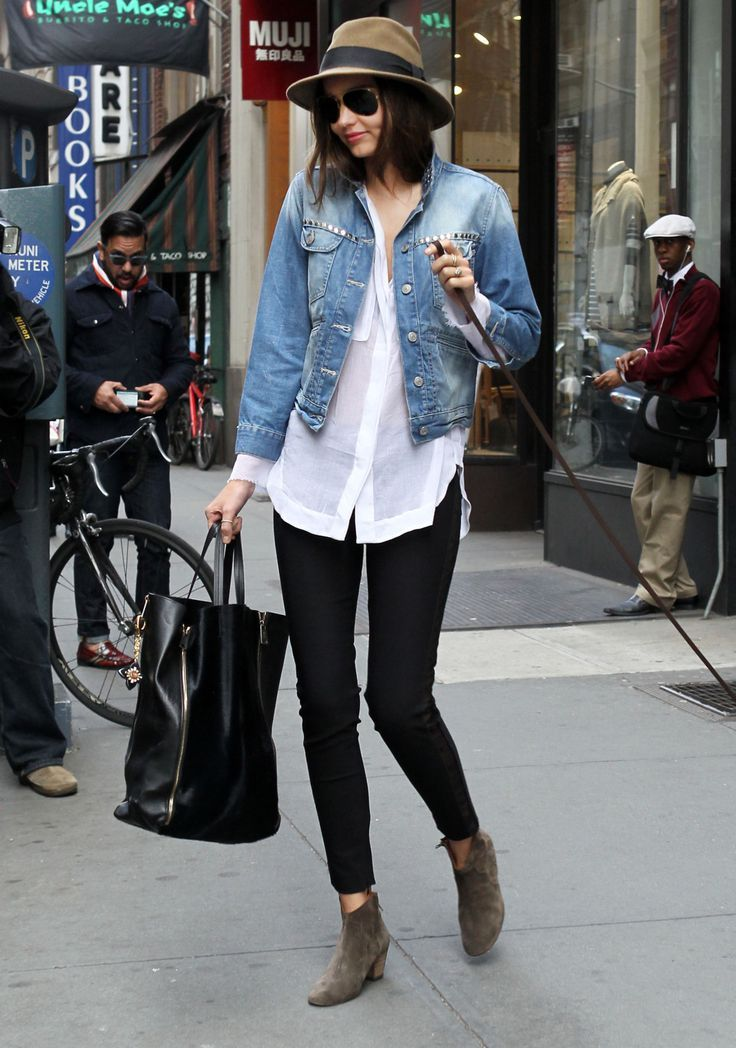 Style Tips On How To Wear A Denim Jacket Daily Outfit Pinterest
