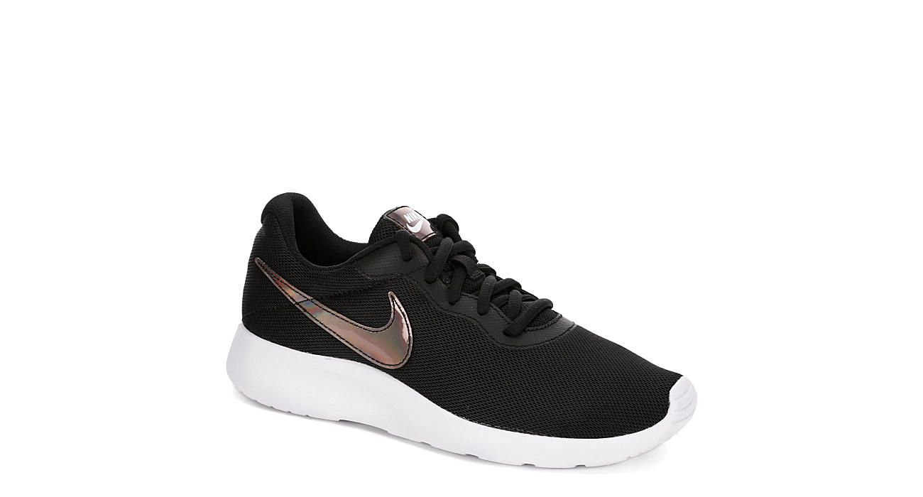 Black Nike Womens Tanjun Metallic