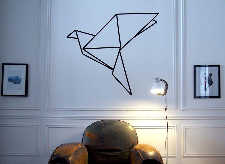 Du Masking Tape Sur Vos Murs Diy Decoration Deco Et Ruban