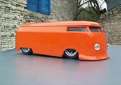 Coolest VW Buses: Orange Updated Bus
