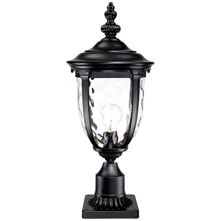 Bellagio black 25 high post light and pier mount adapter bellagio black 25 high post light and pier mount adapter 49288 49273 aloadofball Choice Image