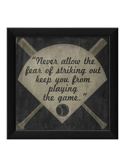Never Allow the Fear of Striking Out... by Artwork Enclosed at Gilt