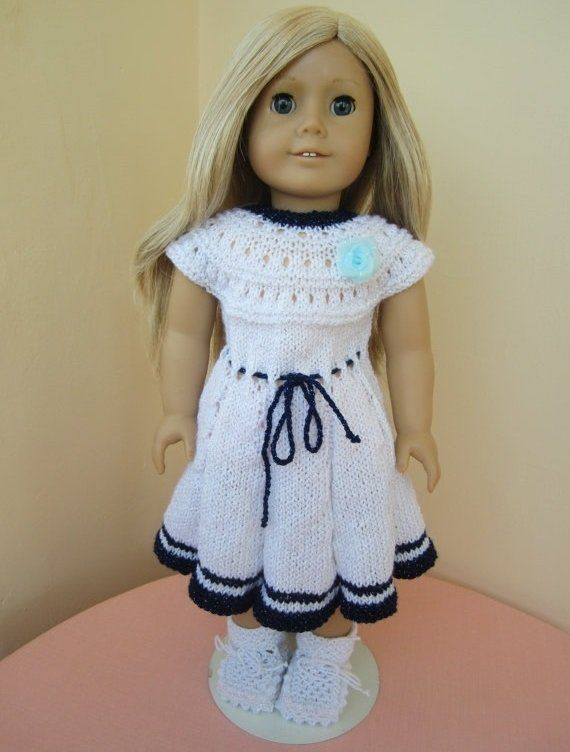 Knitted+American+girl+doll+set-+dress+and+booties...our+generation+ ...