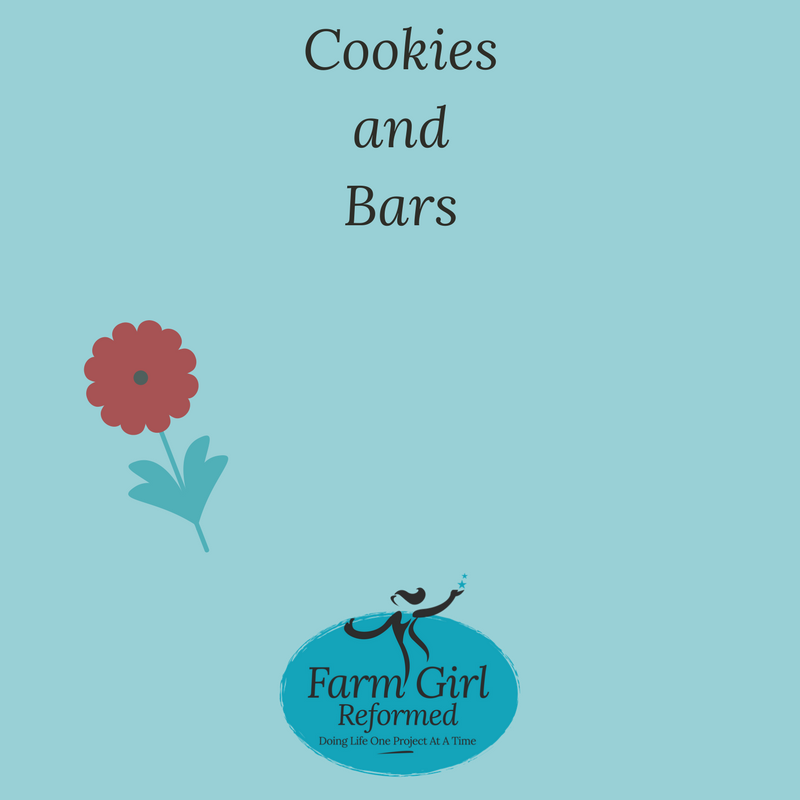 These are recipes for cookies and bars.