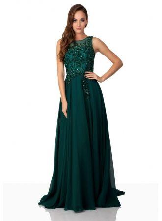 fashion dunkel grüne abendkleider lang chiffon mit spitze abiballkleider günstig mit bildern
