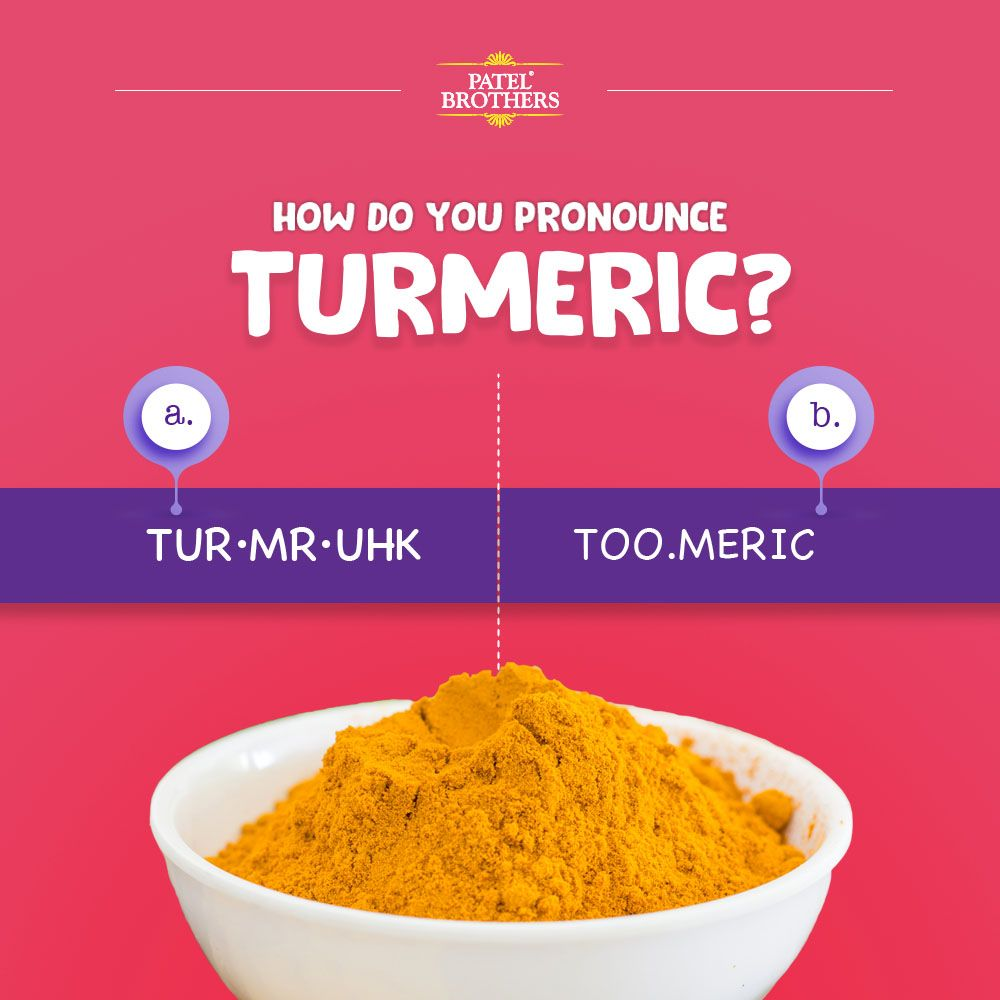 How do you pronounce Turmeric?  Indian food recipes, Chicago food