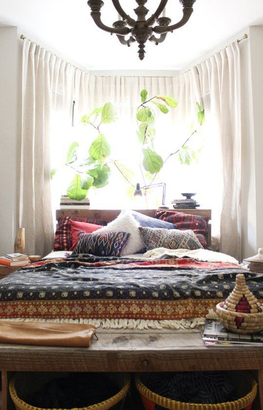 Design Inspiration Making The Most Of A Bay Window Home Bedroom Bohemian Bedroom Decor Bedroom Design
