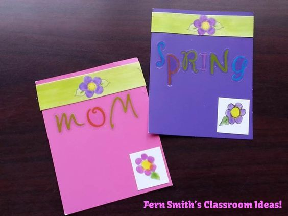 Quick and Easy Mother\u0027s Day Bookmarks with Paint Sample Cards - Sample Cards