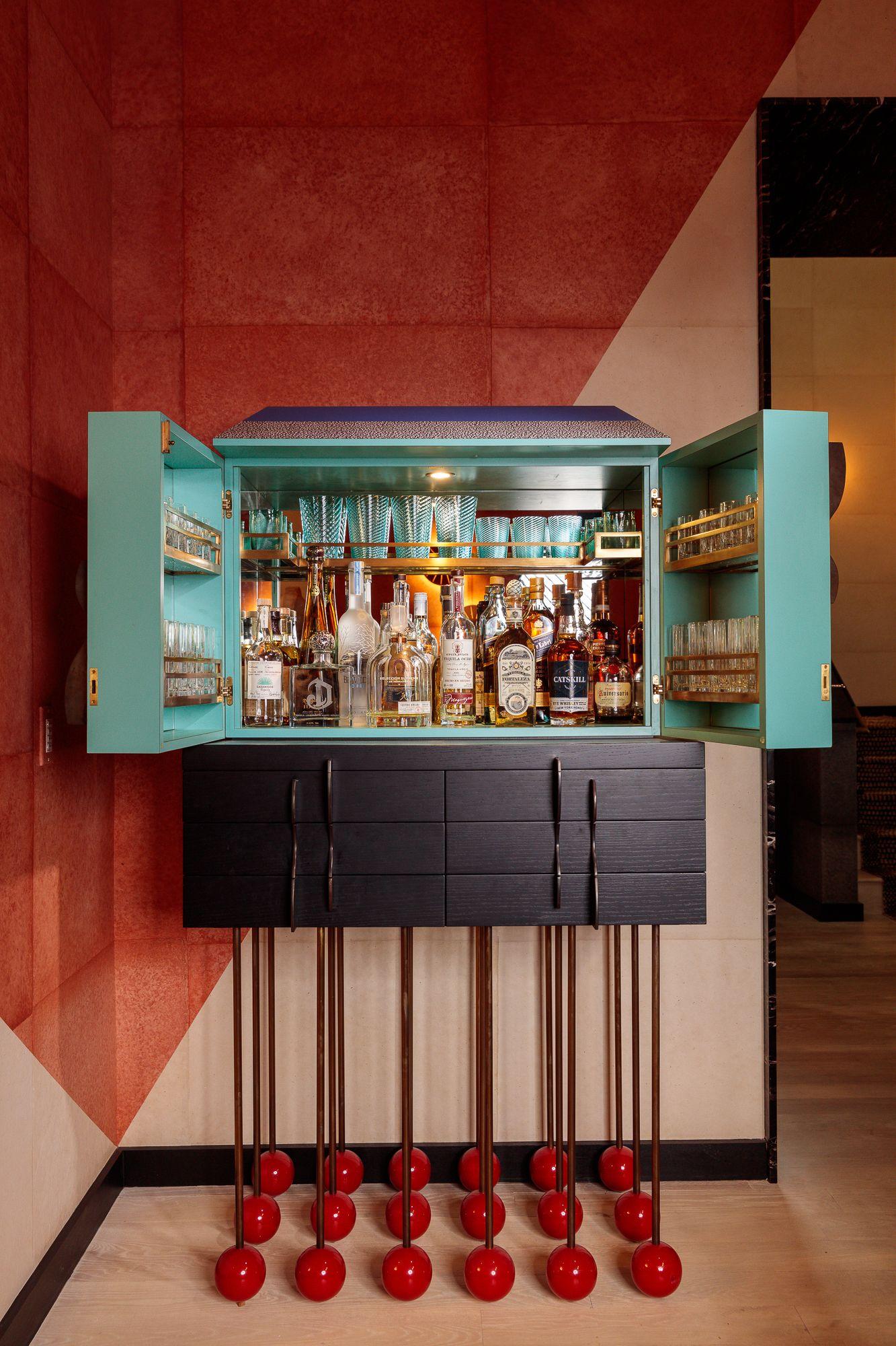 Memphis Style Bar Cart | Kelly wearstler interiors, Artistic furniture,  Furniture design modern