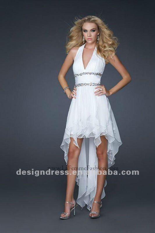 Corto adelante, largo atrás. | boda | Pinterest | Vestidos de novia ...