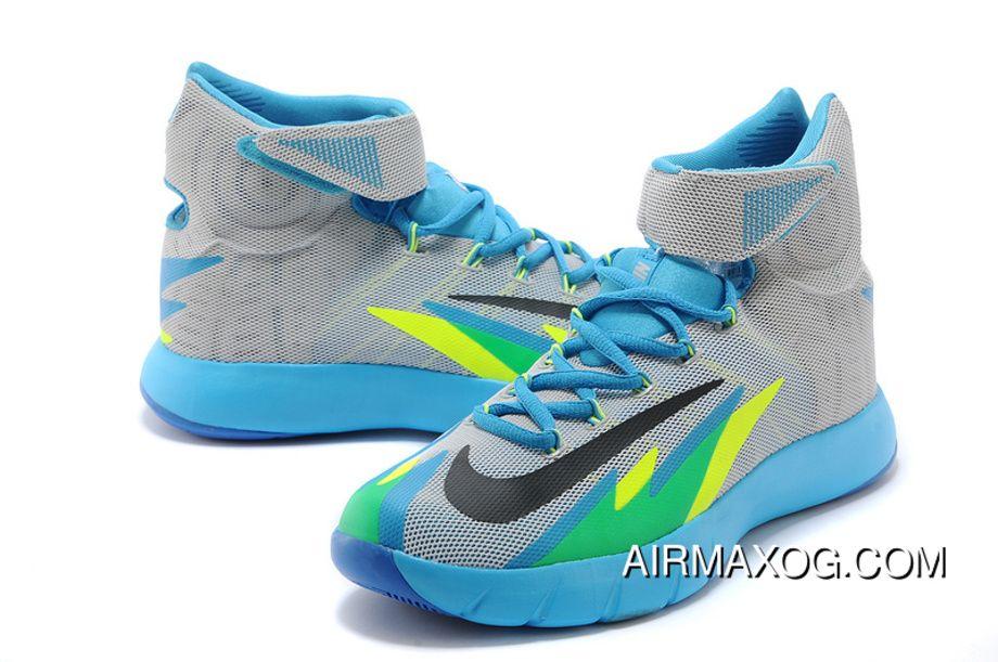 82c681ded05 Nike Zoom Hyperrev Kyrie Irving Grey Vivid Blue-Game Royal-Black Outlet