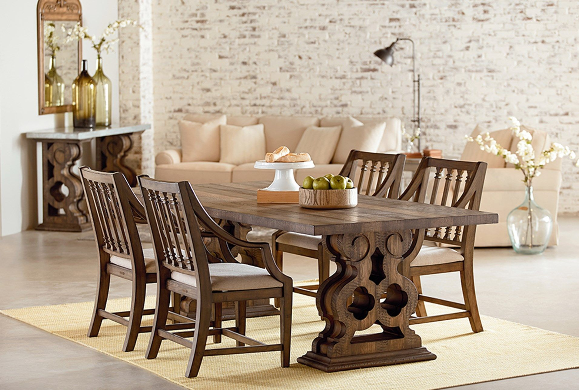 Magnolia Home Double Pedestal Dining Table By Joanna Gaines