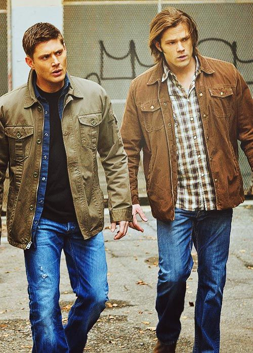 Winchesters. I love how they have the same facial expression.