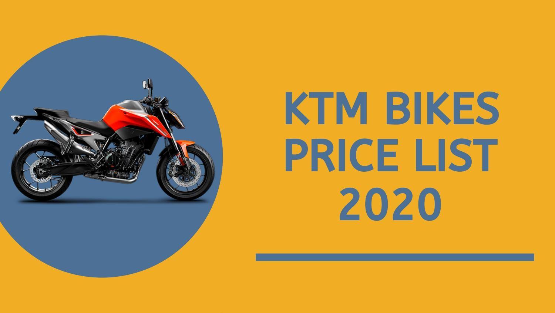 Ktm Bikes Price List 2020 Checkout Ktm Bike Price In India