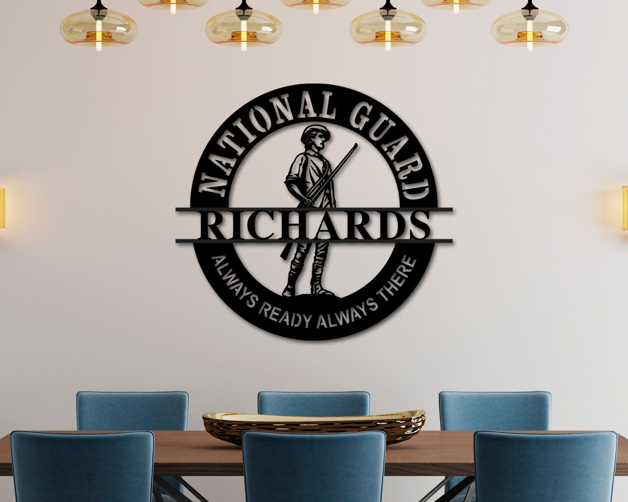 Personalized National Guard Gifts, National Guard Emblem, Personalized Metal Name Sign, Custom National Guard Name Sign, Military Retirement