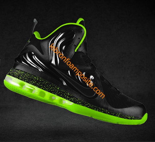 new products 4b51a 1a271 LeBron Foamposite Fluorescent Green Black