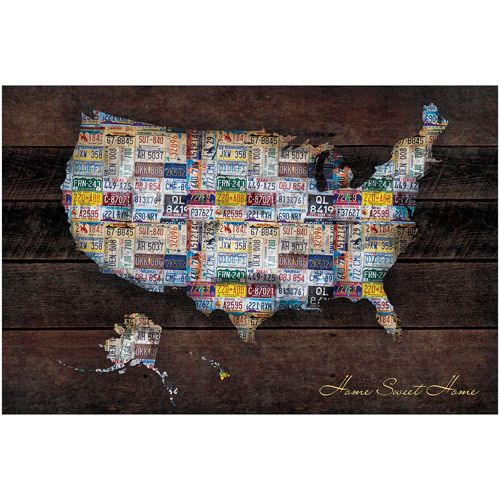 US Map X Poster Print Walmart Printing And Apartments - Us map poster walmart