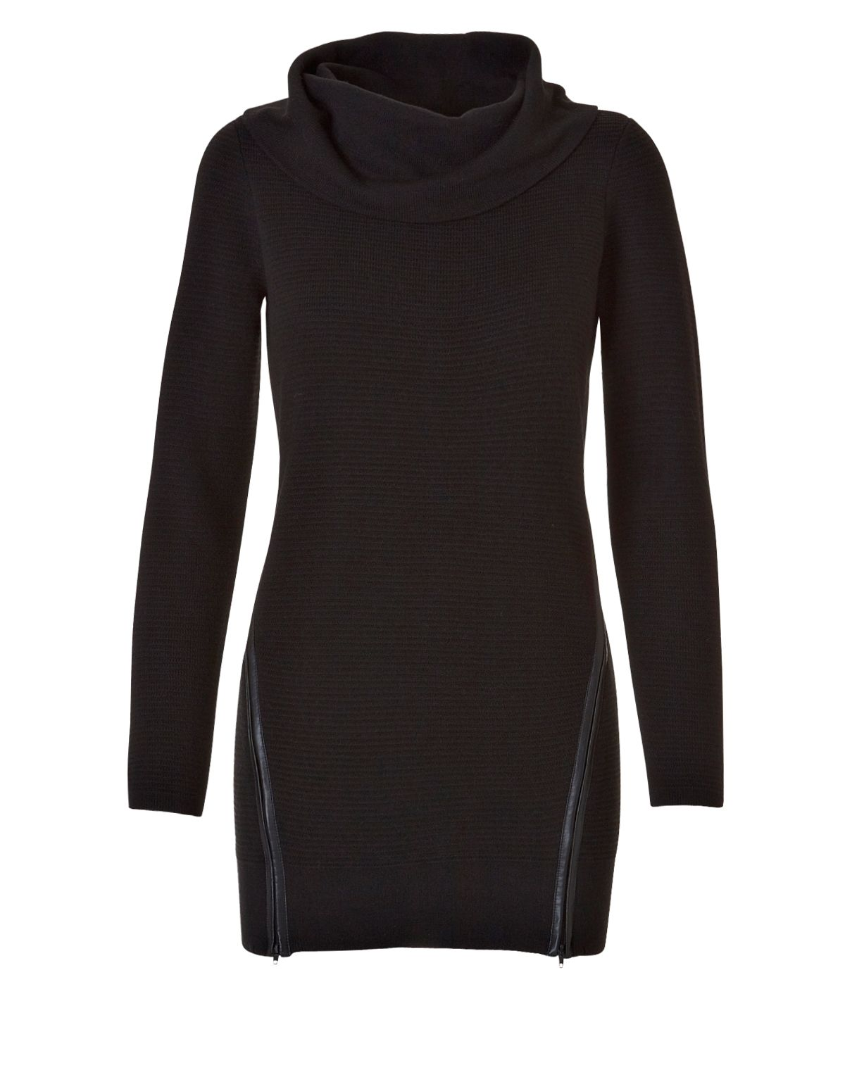 Zipper Tunic SweaterZipper Tunic Sweater, Black | Things I wanna ...