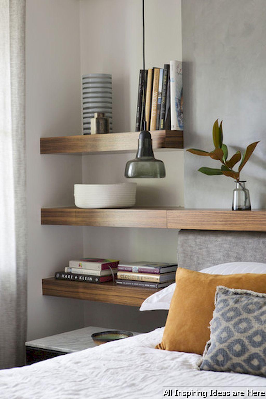 Best Gorgeous 65 Simple Bedroom Shelves Design Ideas Https 400 x 300