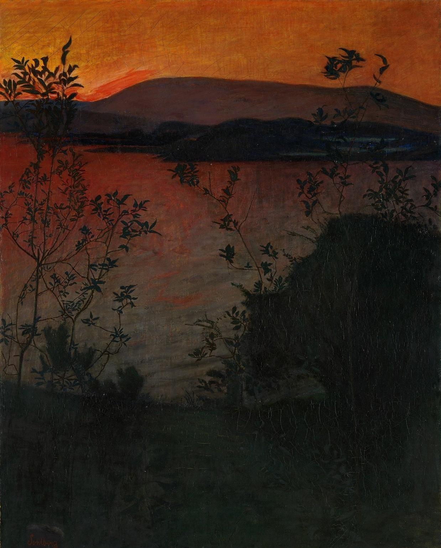 Print Harald Sohlberg Norwegian Evening Glow