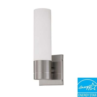 Green Matters 1 Light Brushed Nickel Fluorescent Sconce Hd