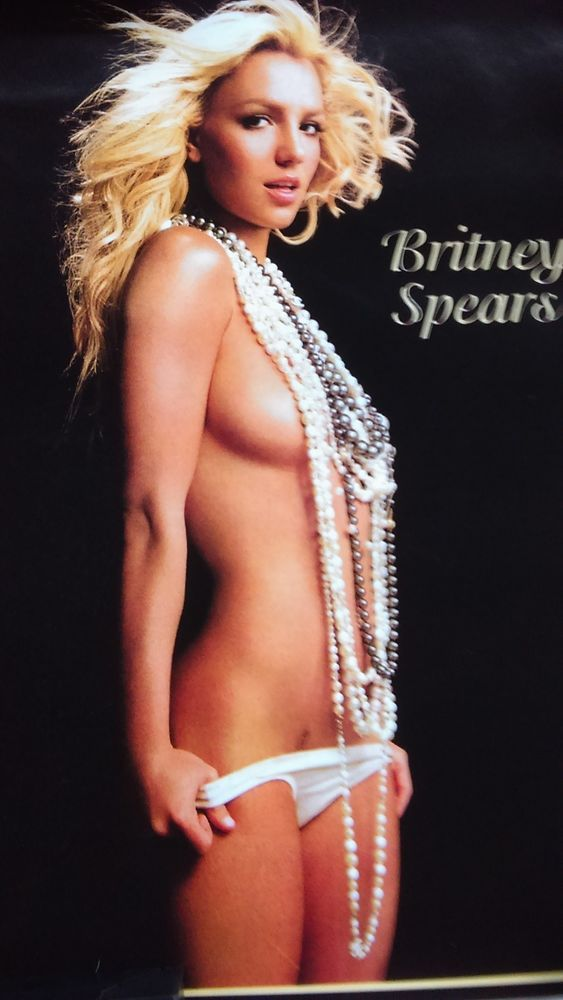 Britney Spears Nude Mexico Street Poster Near Mint Britney