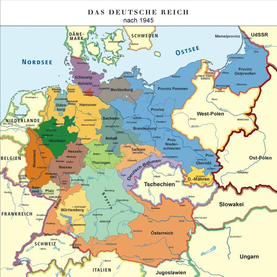 Map Of The German Empire 1948 By Tiltschmaster Germany Map