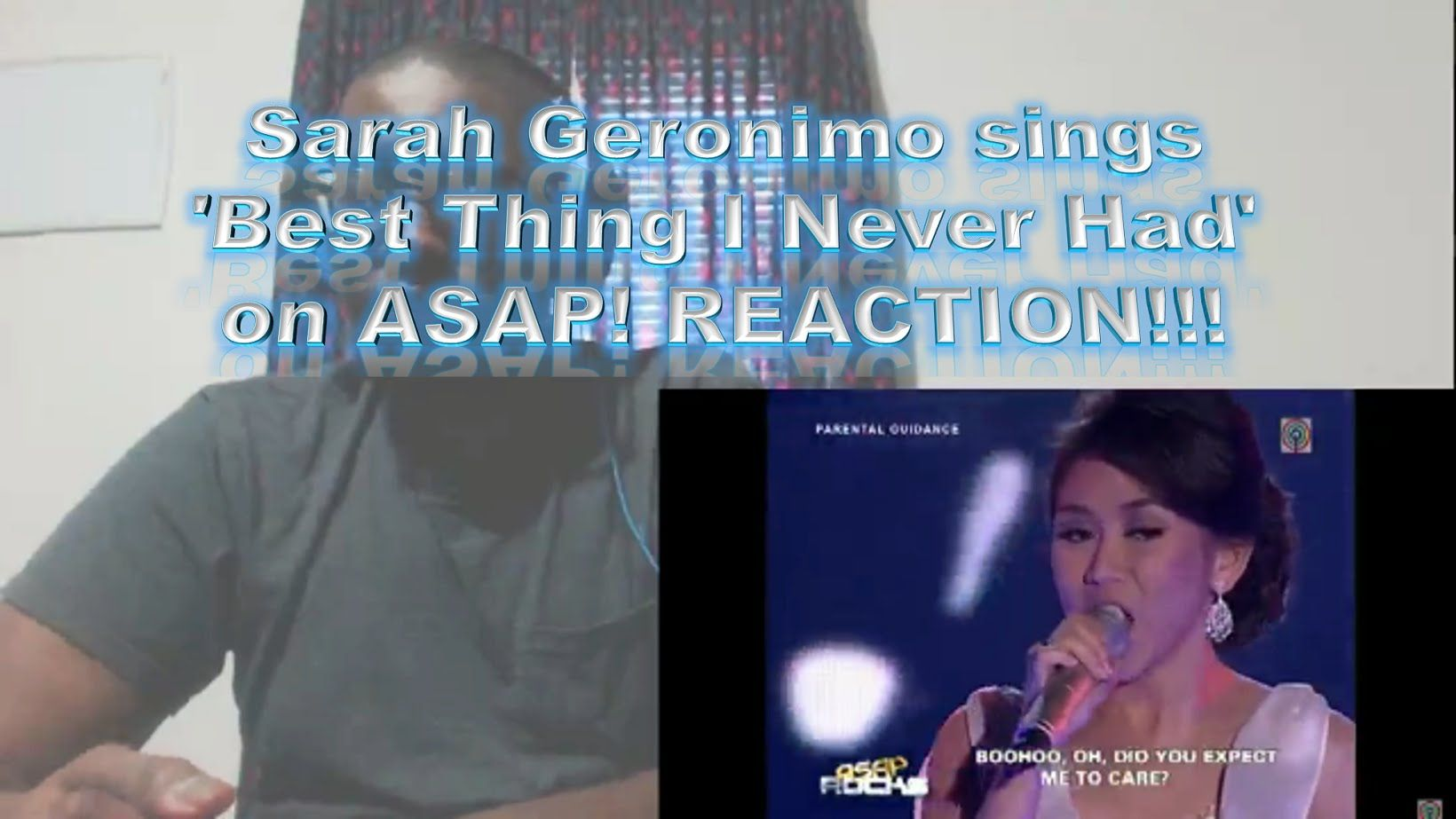 Sarah Geronimo Sings Best Thing I Never Had On Asap Reaction