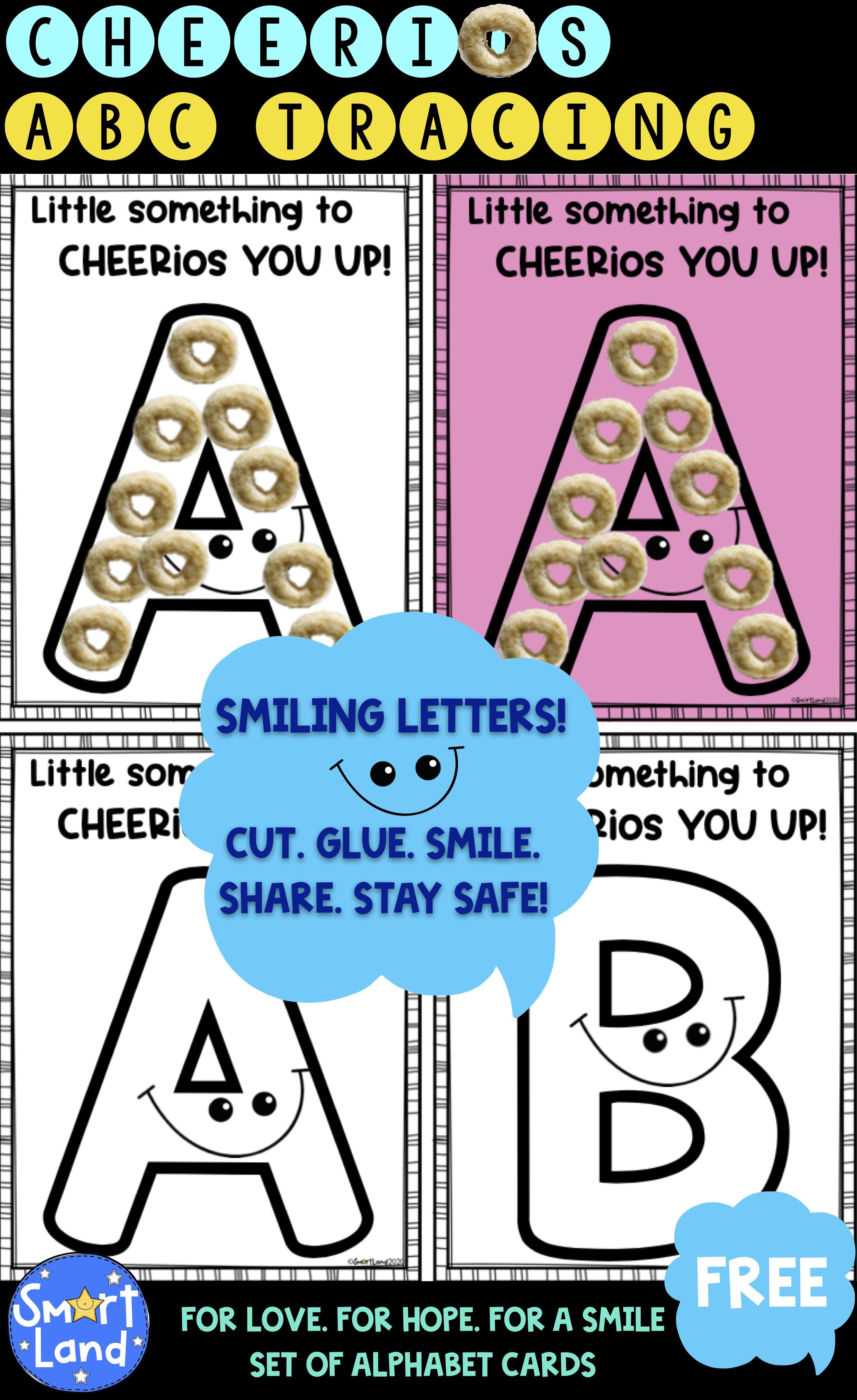 Alphabet Smiling Cheerios Cards In