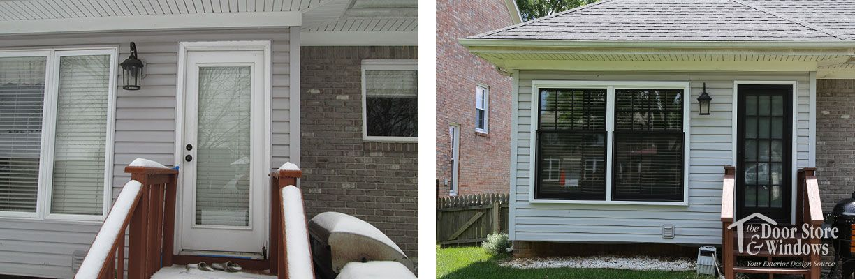 Rear Entry Door And Window Replacement Before And After Projects